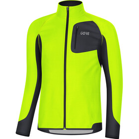 GORE WEAR R3 Partial Gore Windstopper Fietsshirt Korte Mouwen Heren, neon yellow/black